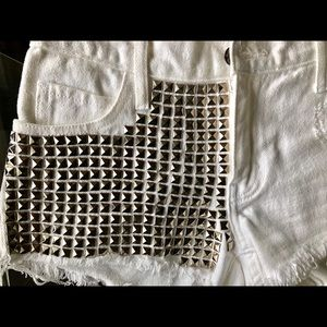 Satine x Max Rich Shorts - White shorts with studs by Satine with Max Rich